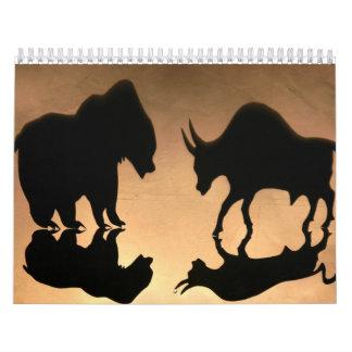 O mercado de valores de acção inspirou o calendário