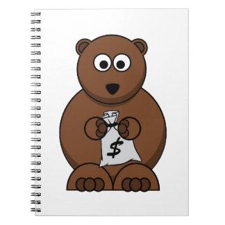 O mercado de valores de acção inspirou o design cadernos