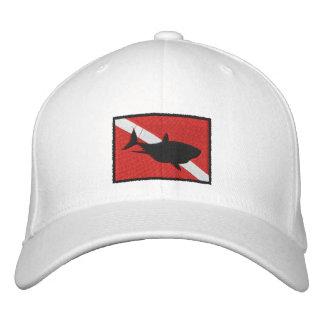 O mergulhador do tubarão do MERGULHADOR embandeira Boné Bordado