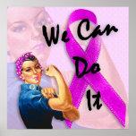 O mês de consciência do câncer de mama, Rosie o re Poster