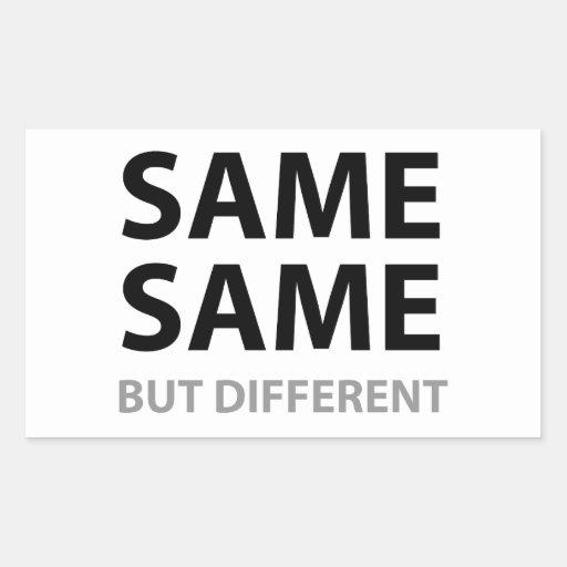O MESMOS MESMOS mas diferente Adesivos Em Formato Retangulares