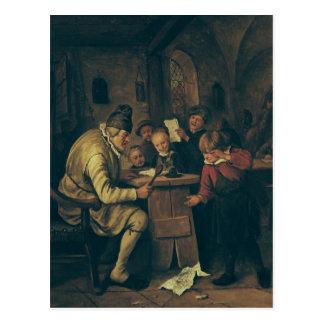 O mestre da escola, 1626-79 cartão postal
