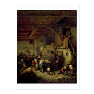 O mestre da escola, c.1662 (óleo no painel) cartão postal
