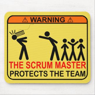 O mestre do scrum protege a equipe mouse pad