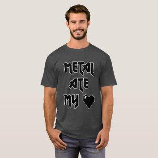 O metal comeu meu coração - camisa de Metalhead