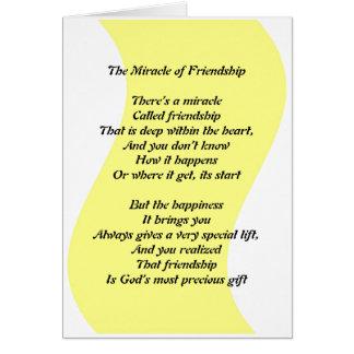 O milagre da amizade cartao