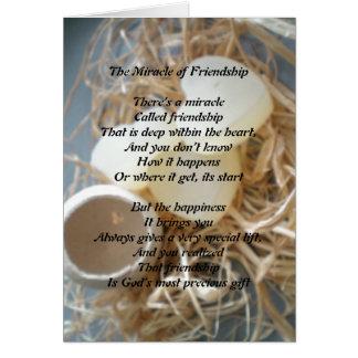 O milagre da amizade cartão