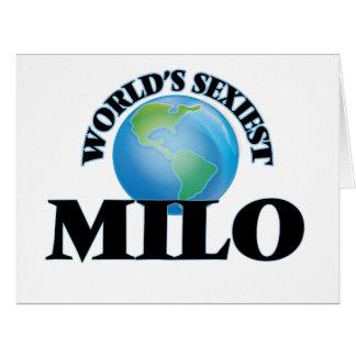 """O Milo o mais """"sexy"""" do mundo Cartão"""