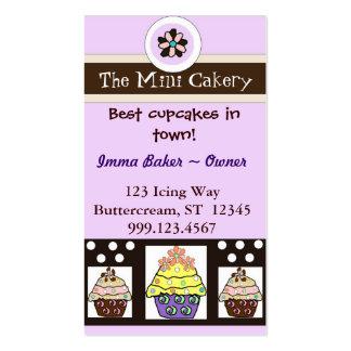 O mini cartão de visita do cakery