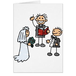 O ministro padre reverendo executa a cerimónia de  cartão