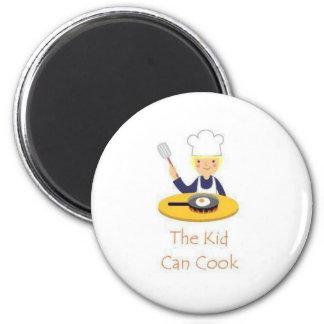 O miúdo pode cozinhar ímã redondo 5.08cm