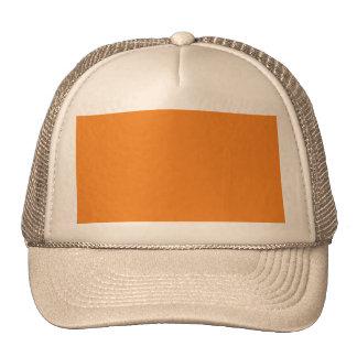 O modelo alaranjado da tangerina a personalizar boné