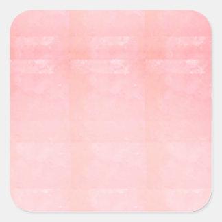 O MODELO cor-de-rosa de cristal da faísca de prata Adesivo Quadrado