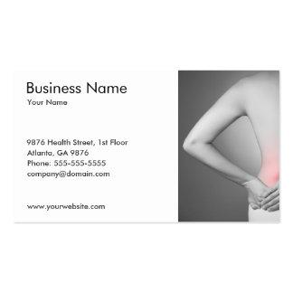 O modelo de cartão de negócios traseiro da mulher modelos cartão de visita