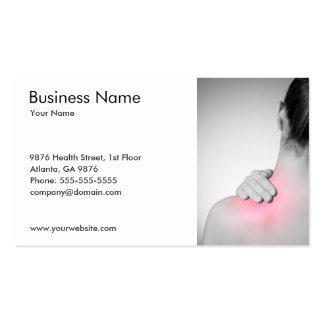O modelo de cartão de negócios traseiro da mulher cartão de visita