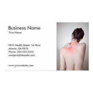 O modelo de cartão de negócios traseiro da mulher