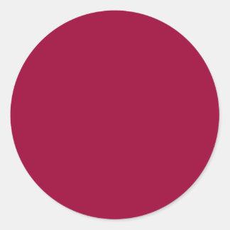 O modelo de DIY edita cores que a forma adiciona a Adesivo Redondo