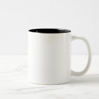 O modelo diy adiciona a cor da mudança da foto do caneca de café em dois tons