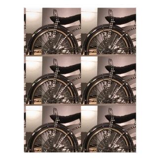 O modelo gráfico do deco da arte da bicicleta do papel timbrado