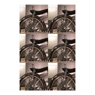 O modelo gráfico do deco da arte da bicicleta do papelaria