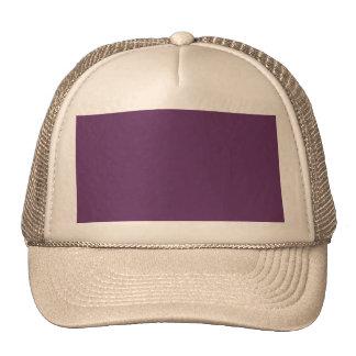 O modelo roxo da beringela a personalizar boné