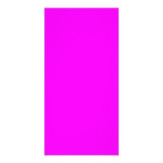 o modelo roxo magenta a personalizar personaliza cartão com foto