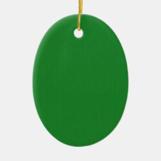 O modelo vazio liso do verde DIY adiciona o quot Ornamento De Cerâmica Oval