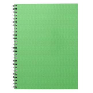 O modelo verde DIY do vazio da textura adiciona a Cadernos Espiral