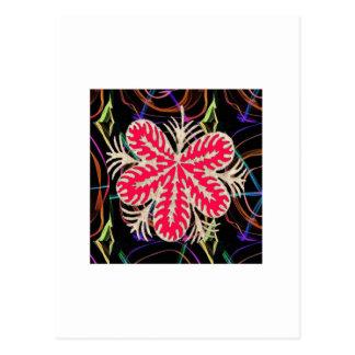 O modelo VERMELHO de Custume da flor ADICIONA o Cartão Postal