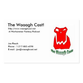 O molde de Waaagh Cartão de visita sem redução