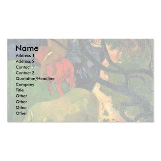 O molde por Gauguin Paul (a melhor qualidade) Cartoes De Visita