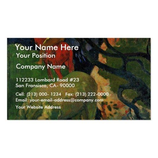 O molde por Gauguin Paul (a melhor qualidade) Cartao De Visita