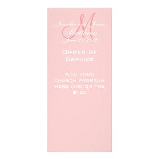 O monograma cor-de-rosa nomeia o programa do casam planfetos informativos coloridos
