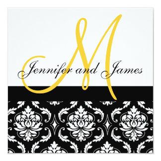 O monograma do convite do casamento nomeia o convite quadrado 13.35 x 13.35cm