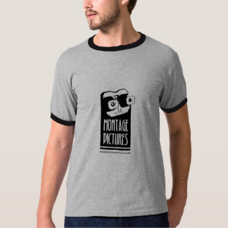 O montagem representa o t-shirt dos homens camiseta