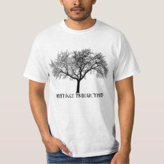 O montagem - silhueta - árvores não morre da idade camiseta