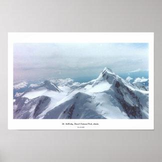 O Monte McKinley, parque nacional de Denali, Alask Impressão
