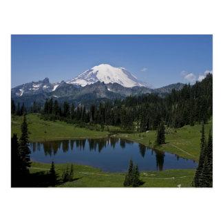 O Monte Rainier e cartão do lago Tipsoo
