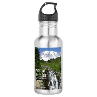O Monte Rainier N.P. com texto Garrafa D'água
