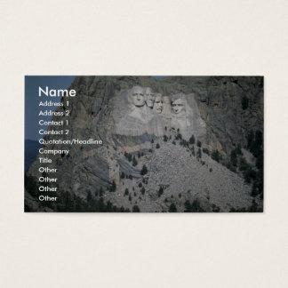 O Monte Rushmore, Black Hills, South Dakota, EUA Cartão De Visitas