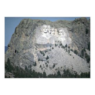 O Monte Rushmore, Black Hills, South Dakota, EUA Convite 12.7 X 17.78cm