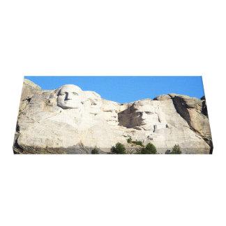 O Monte Rushmore envolveu a lona Impressão De Canvas Esticadas