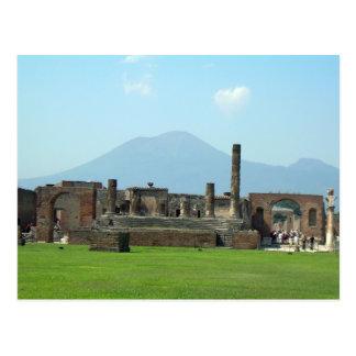 O Monte Vesúvio Cartão Postal