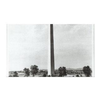 O monumento de Washington e os arredores Impressão De Canvas Envolvidas