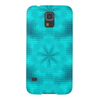 O mosaico floresce a caixa azul da galáxia s5 de capinha galaxy s5
