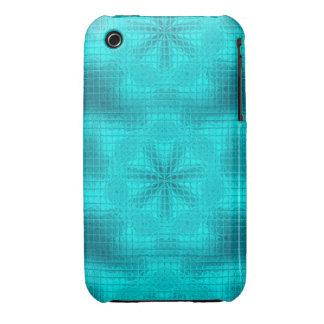 O mosaico floresce a caixa azul do iPhone 3g/3gs Capinhas Para iPhone 3