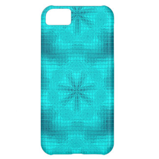 O mosaico floresce a caixa azul do iPhone 5c do Capa Para iPhone 5C