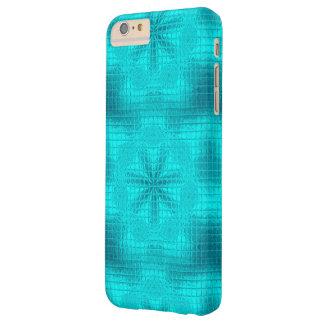 O mosaico floresce a caixa azul do iPhone 6 do Capas iPhone 6 Plus Barely There