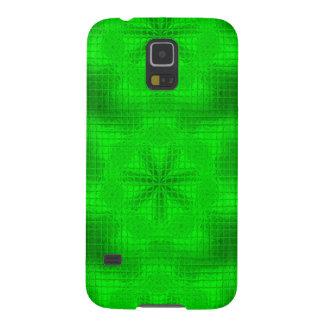 O mosaico floresce a caixa verde de néon da capinhas galaxy s5