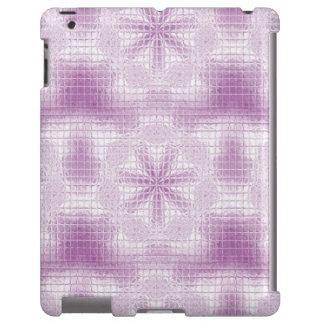 O mosaico floresce a luz - roxo - caso do iPad Capa Para iPad